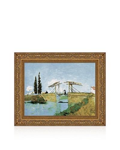 Vincent van Gogh Bridge Framed Canvas