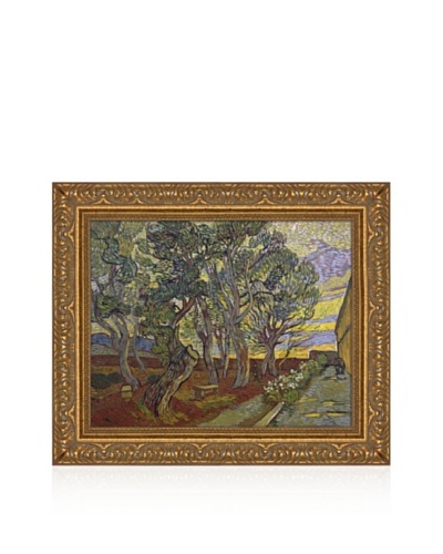Vincent van Gogh The Garden Of Saint Paul's Hospital, 1889 Framed Canvas