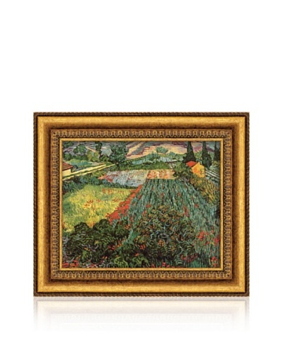 Vincent van Gogh Field Of Poppies, Saint-Remy, c. 1889 Framed Canvas