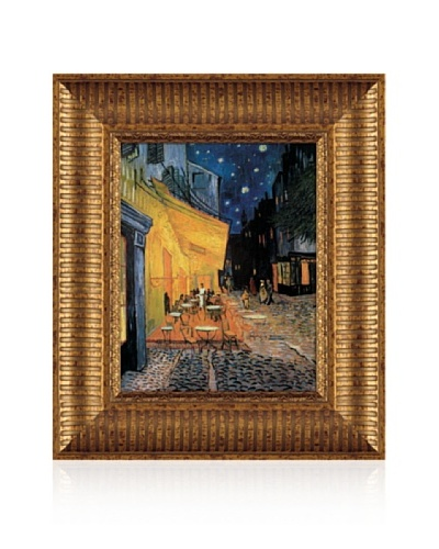 Vincent van Gogh Cafe Terrace at Night Framed Canvas