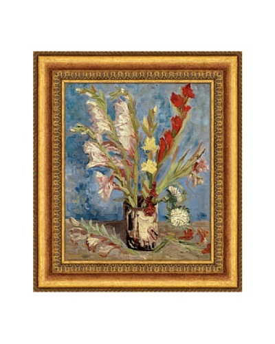 Vincent van Gogh Vase with Gladioli And China Asters, 1886 Framed Canvas