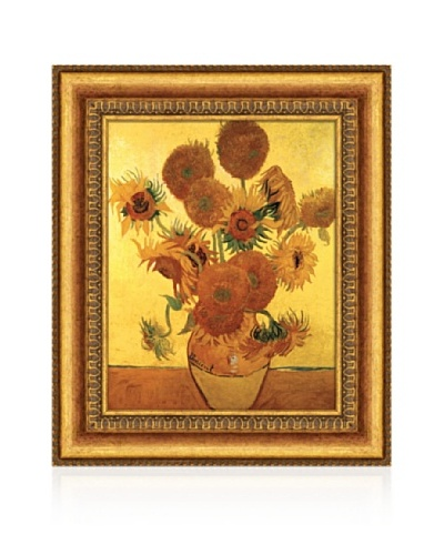 Vincent van Gogh Sunflowers On Gold, 1888 Framed Canvas