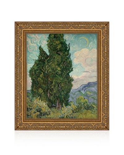 Vincent van Gogh Cypresses, 1889 Framed Canvas