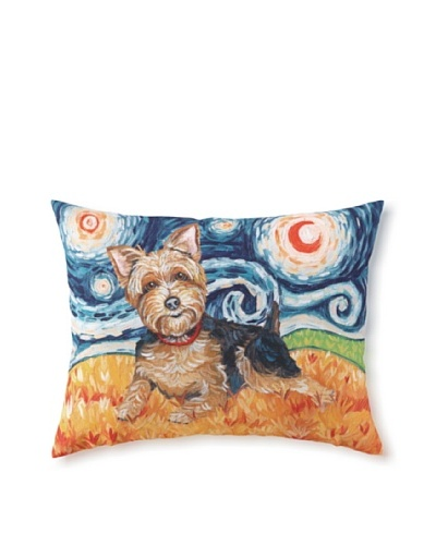 Van Growl Yorkie Pillow