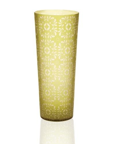 Lazy Susan Kiwi Etched Vase