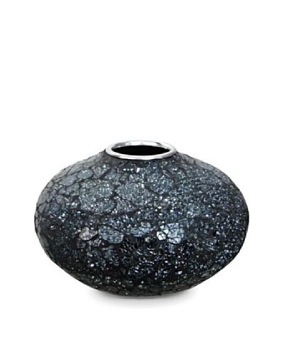 Global Pickings Midnight Oval Mosaic Vase