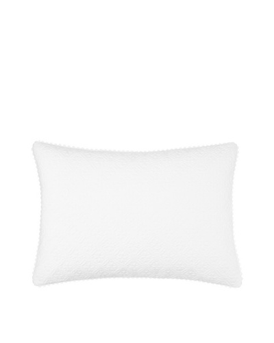 Vera Wang Scuplted Floral Lotus Flower Pillow, White