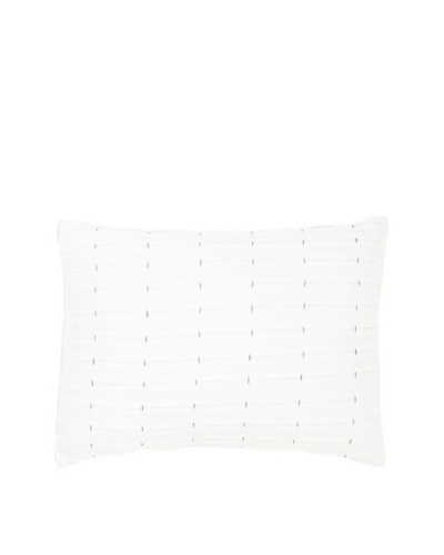 Vera Wang Dusk Pleated Decorative Pillow, White/Lavender, 12 x 16