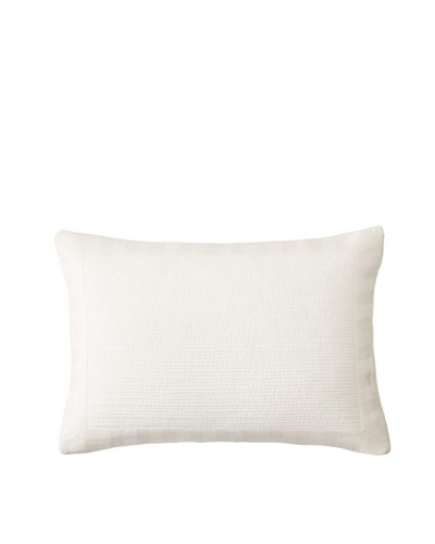 Vera Wang Sculpted Channel Pillow, White