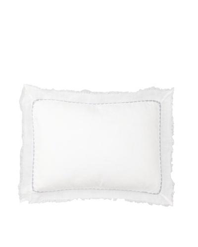 "Vera Wang Dusk Fringe Decorative Pillow, White, 12"" x 16"""