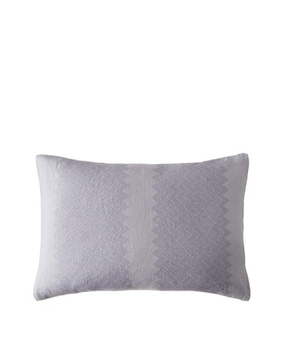 Vera Wang Trailing Vines Herringbone Embroidered Pillow, Violet