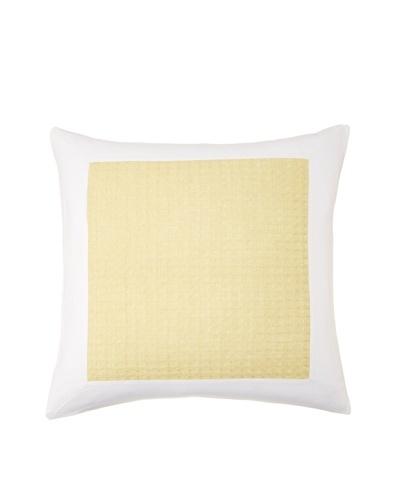 Vera Wang Modern Ikat Sham, White/Yellow, Euro