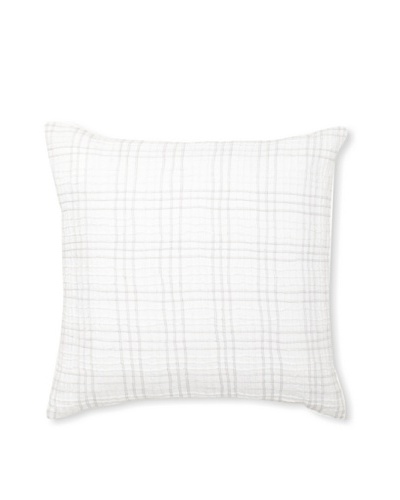Vera Wang Crinkle Plaid Decorative Pillow, White, 20 x 20