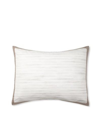 Vera Wang Ribbon Stripe Pillow Sham, Mocha, Standard