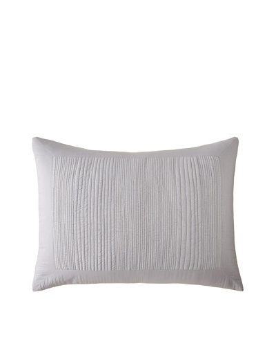 Vera Wang Charcoal Quilted Sham, Pewter, Standard