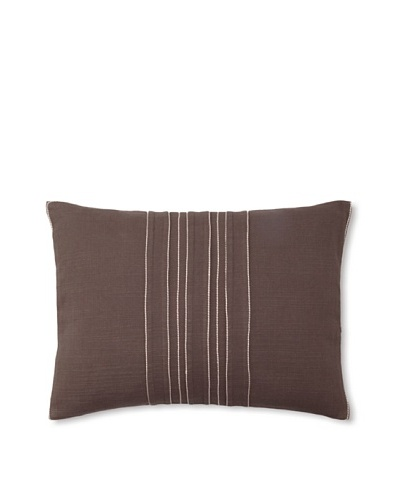 Vera Wang Ribbon Stripe Decorative Pillow, Mocha, 12 x 16