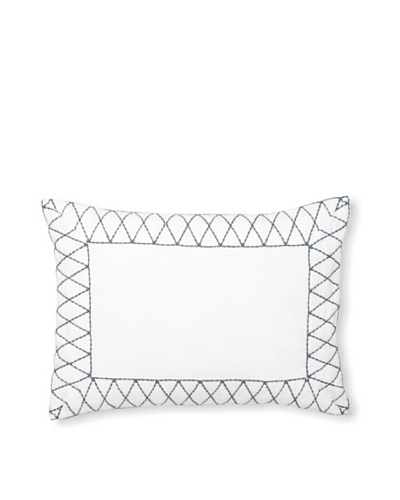 Vera Wang Shibori Decorative Pillow, White, 12 x 16