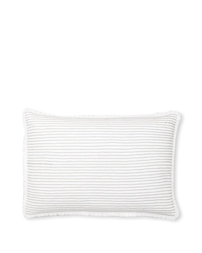 "Vera Wang Crinkle Plaid Decorative Pillow, White, 15"" x 22"""