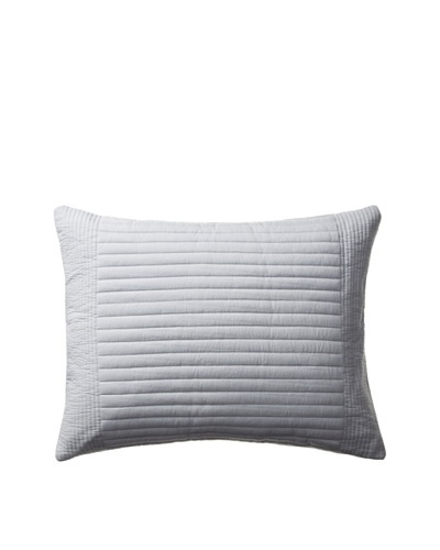Vera Wang Gossamer Floral Collection Channel Quilted Pillow, Pale Grey