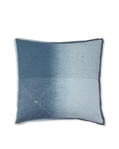 Vera Wang Shibori Decorative Pillow, Blue, 18 x 18