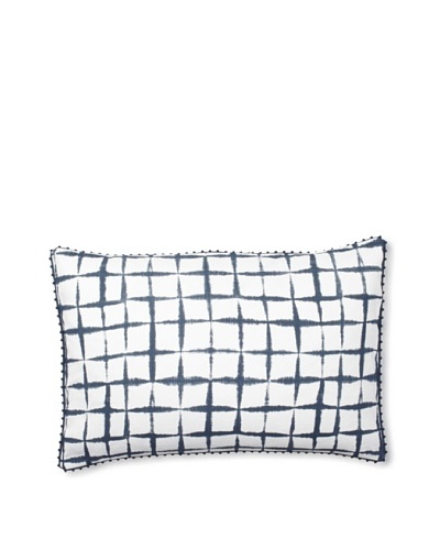 Vera Wang Shibori Decorative Pillow, Blue, 15 x 22