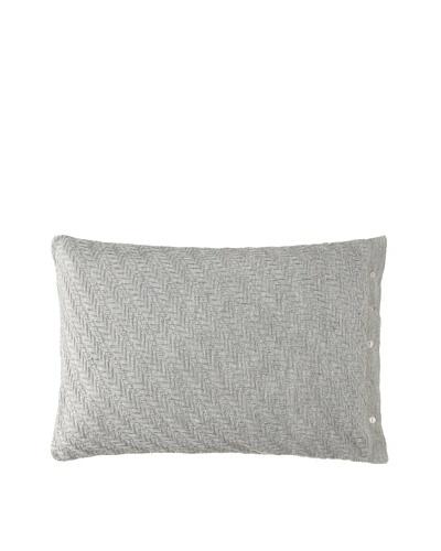 Vera Wang Charcoal Flower Herringbone Knit Pillow, Charcoal Grey