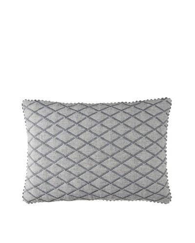 Vera Wang Charcoal Flower Diamond Pillow, Charcoal Grey