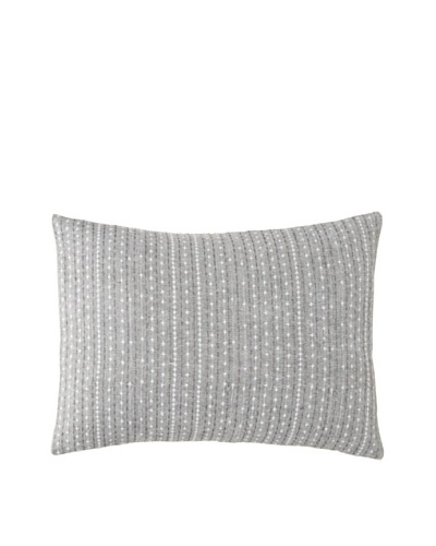 Vera Wang Charcoal Flower Embroidered Pillow, Charcoal Grey