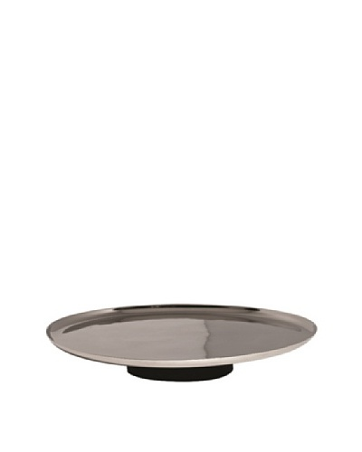 Vera Wang Wedgwood Elements 10 Footed Cake Plate, Silver/Black