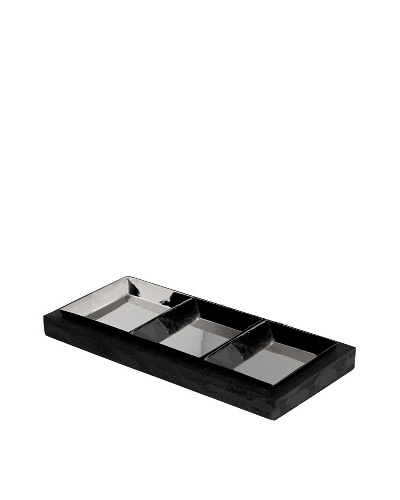 Vera Wang Wedgwood Elements 14 Divided Server, Silver/Black