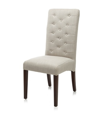 Verde Collection Meyer Linen Side Chair, Putty