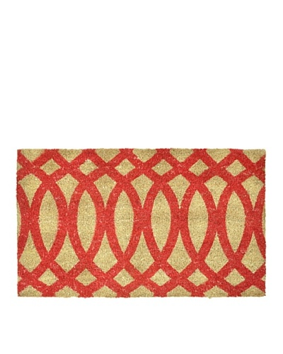 "Verde Collection ""Geo Red"" Doormat"