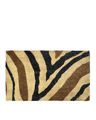 Verde Collection Zebra Black/Brown Doormat