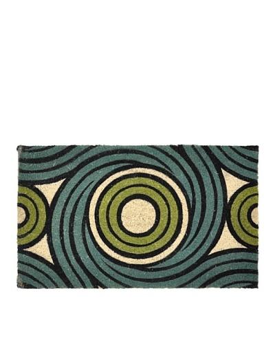 Verde Collection Vortex Teal/Green Doormat