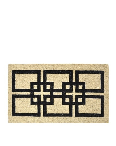 Verde Collection Gridley Black Doormat