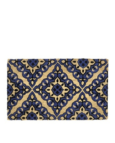 Verde collection Mosaic Tile Black/Blue Doormat