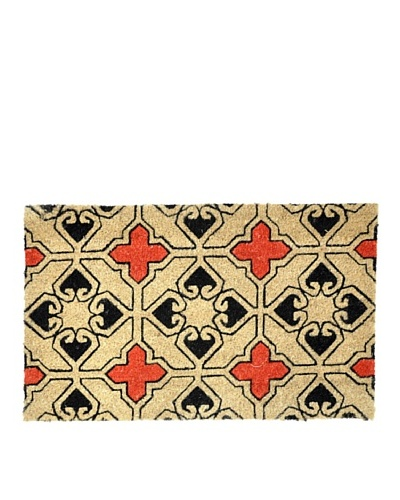 Verde Collection Lamina Red/Black Doormat