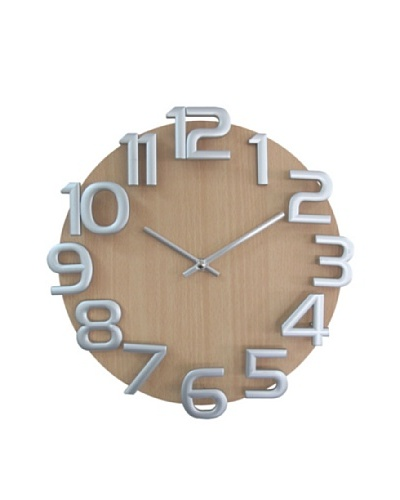 Verichron Dimensions Wall Clock, Natural/SilverAs You See