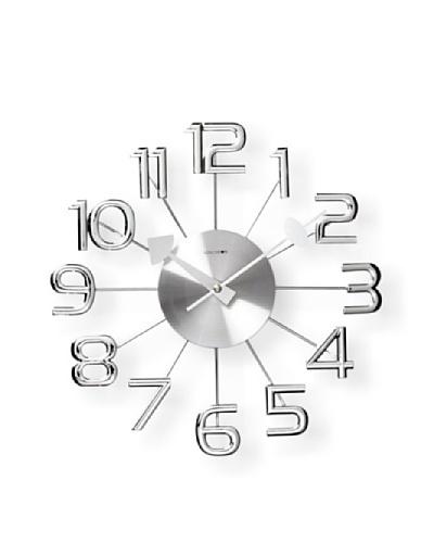Verichron Clocks Ultra-Modern Numeral Wall Clock [Silver]
