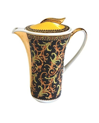 Versace Creamer with Lid In Box, Black/White/Gold