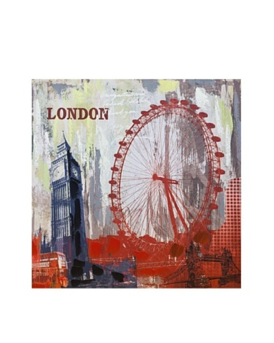Vertuu Design London Skyline Giclée Canvas Artwork