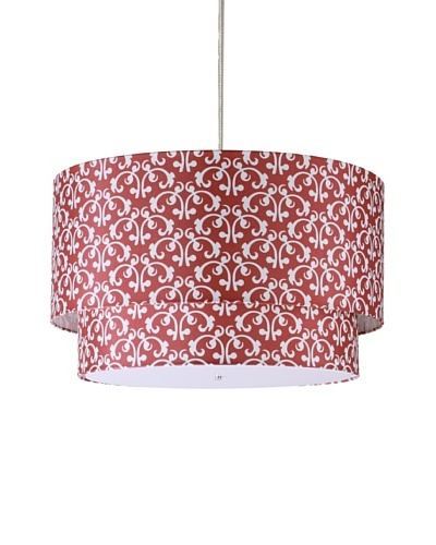 Inhabit Hudson Double Pendant Lamp, Scarlet, 24″ x 14″