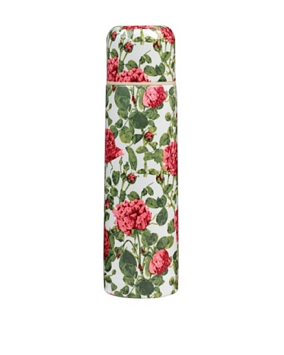 Victoria & Albert Vacuum Flask with Cream & Pink Roses
