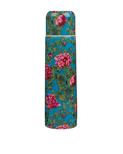 Victoria & Albert Vacuum Flask with Pink & Blue Roses
