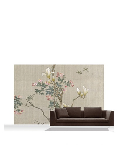 Victoria and Albert Museum Flowering Shrub and Mayflies Mural, Standard, 12' x 8'