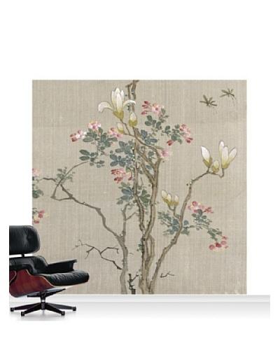 Victoria and Albert Museum Flowering Shrub and Mayflies Standard Mural - 8' x 8'
