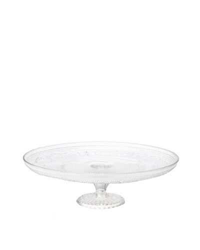 Gâteau Lace Design Glass Footed Cake Stand