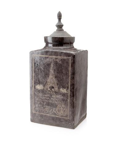 Belle Maison Eiffel Tower Covered Ceramic Jar