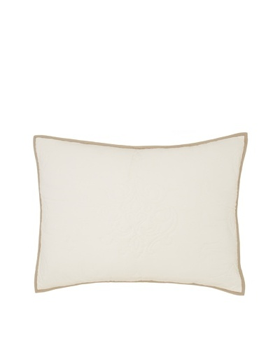 Villa Home Marcus Pillow Sham, Cream, Standard