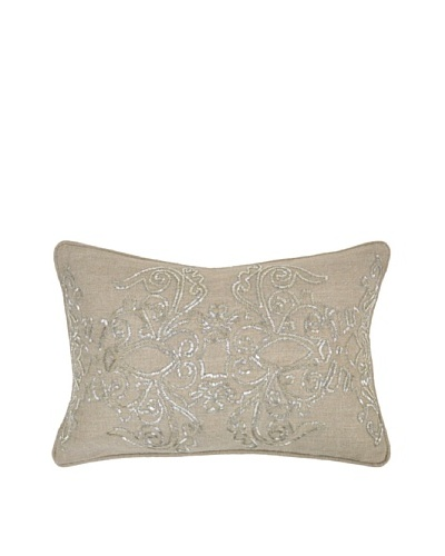 Villa Home Radiance Beaded Pillow, Natural